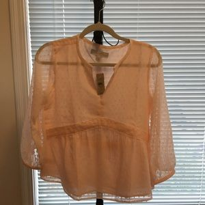 Ann Taylor Loft light pink blouse